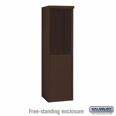 Salsbury 3908S-BRZ Free-Standing Enclosure - for 3708 Single Column Unit - Bronze