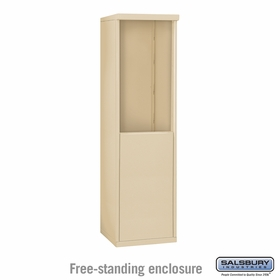 Salsbury 3908S-SAN Free-Standing Enclosure - for 3708 Single Column Unit - Sandstone