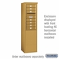 Salsbury 3909S-GLD Salsbury Free-Standing Enclosure - for 3709 Single Column Unit - Gold
