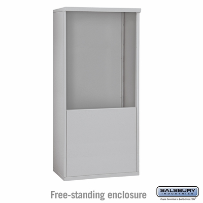 Salsbury 3910D-ALM Free-Standing Enclosure - for 3710 Double Column Unit - Aluminum