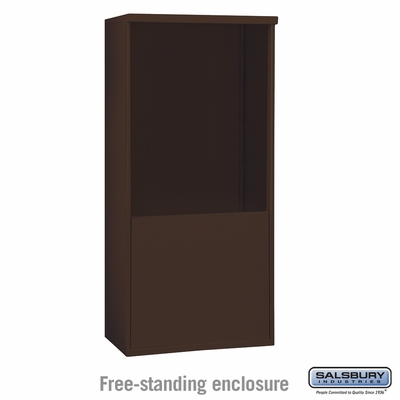 Salsbury 3910D-BRZ Free-Standing Enclosure - for 3710 Double Column Unit - Bronze