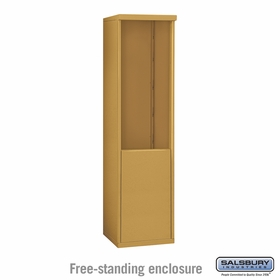 Salsbury 3910S-GLD Free-Standing Enclosure - for 3710 Single Column Unit - Gold