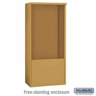 Salsbury 3912D-GLD Free-Standing Enclosure - for 3712 Double Column Unit - Gold