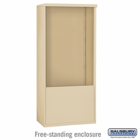 Salsbury 3912D-SAN Free-Standing Enclosure - for 3712 Double Column Unit - Sandstone