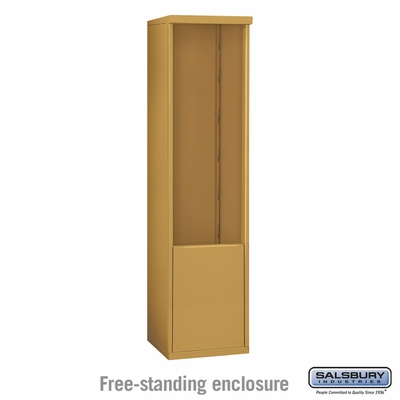 Salsbury 3912S-GLD Free-Standing Enclosure - for 3712 Single Column Unit - Gold