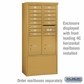 Salsbury 3913D-GLD Salsbury Free-Standing Enclosure - for 3713 Double Column Unit - Gold