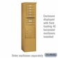 Salsbury 3913S-GLD Salsbury Free-Standing Enclosure - for 3713 Single Column Unit - Gold
