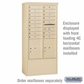 Salsbury 3914D-SAN Free-Standing Enclosure - for 3714 Double Column Unit - Sandstone