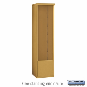 Salsbury 3914S-GLD Free-Standing Enclosure - for 3714 Single Column Unit - Gold