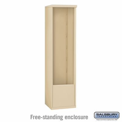 Salsbury 3914S-SAN Free-Standing Enclosure - for 3714 Single Column Unit - Sandstone