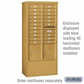 Salsbury 3916D-GLD Salsbury Free-Standing Enclosure - for 3716 Double Column Unit - Gold