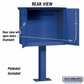 Salsbury 4276BLU Pedestal Drop Box Large Blue (Includes Pedestal)
