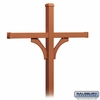 Salsbury 4374D-COP Deluxe In-Ground Post for (4) Designer Roadside Mailboxes - Copper