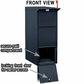 Salsbury 4375BLK Black Mail Package Drop With Front And Rear Access