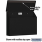 Salsbury 4610BLK Traditional Mailbox Standard Horizontal Style Black