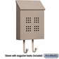 Salsbury 4625BGE Traditional Mailbox Decorative Vertical Style Beige