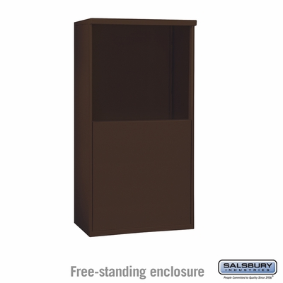 Salsbury 3907D-BRZ Salsbury Free-Standing Enclosure for 3707 Double Column Unit Bronze