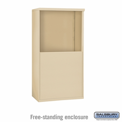 Salsbury Free-Standing Enclosure for 3707 Double Column Unit - Sandstone