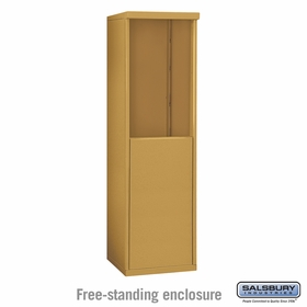 Salsbury 3907S-GLD Salsbury Free-Standing Enclosure - for 3707 Single Column Unit - Gold