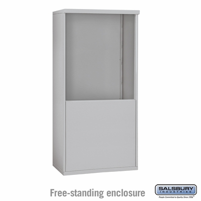 Salsbury Free-Standing Enclosure for 3709 Double Column Unit - Aluminum