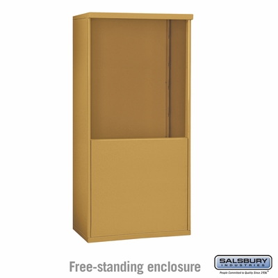 Salsbury 3909D-GLD Salsbury Free-Standing Enclosure - for 3709 Double Column Unit - Gold