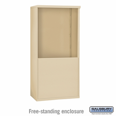 Salsbury Free-Standing Enclosure for 3709 Double Column Unit - Sandstone