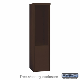 Salsbury 3911S-BRZ Salsbury Free-Standing Enclosure for 3711 Single Column Unit Bronze
