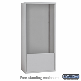 Salsbury Free-Standing Enclosure for 3713 Double Column Unit - Aluminum
