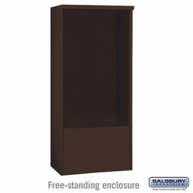Salsbury 3913D-BRZ Salsbury Free-Standing Enclosure for 3713 Double Column Unit Bronze