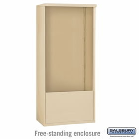 Salsbury Free-Standing Enclosure for 3713 Double Column Unit - Sandstone