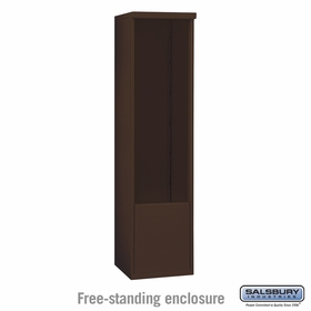Salsbury 3913S-BRZ Salsbury Free-Standing Enclosure for 3713 Single Column Unit Bronze