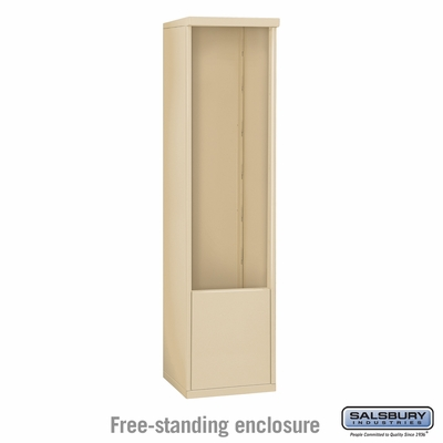 Salsbury Free-Standing Enclosure for 3713 Single Column Unit - Sandstone