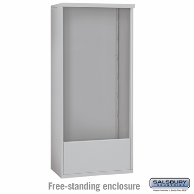 Salsbury Free-Standing Enclosure for 3715 Double Column Unit - Aluminum