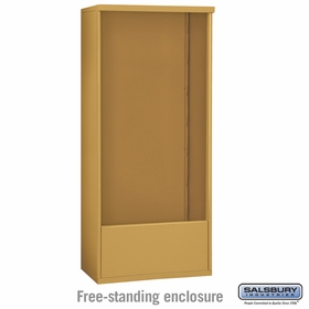 Salsbury 3915D-GLD Salsbury Free-Standing Enclosure - for 3715 Double Column Unit - Gold