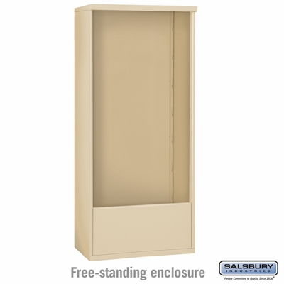 Salsbury Free-Standing Enclosure for 3715 Double Column Unit - Sandstone