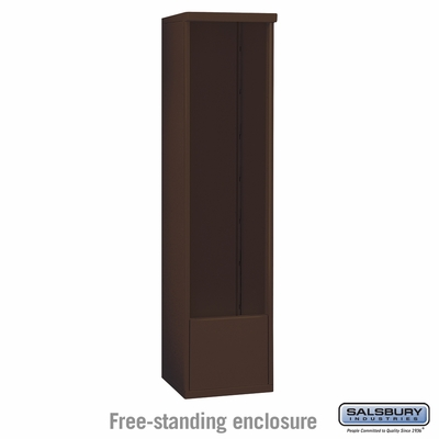 Salsbury 3916S-BRZ Salsbury Free-Standing Enclosure for 3716 Single Column Unit Bronze