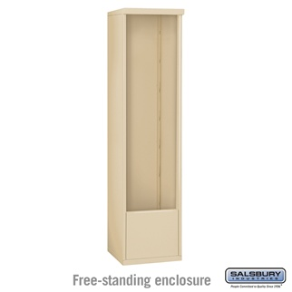 Salsbury Free-Standing Enclosure for 3716 Single Column Unit - Sandstone