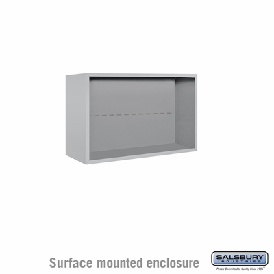 Salsbury Surface Mounted Enclosure for 3705 Double Column Unit - Aluminum