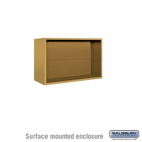 Salsbury 3805D-GLD Salsbury Surface Mounted Enclosure for 3705 Double Column Unit Gold