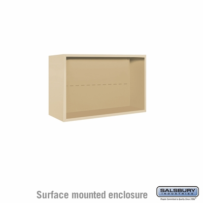 Salsbury Surface Mounted Enclosure for 3705 Double Column Unit - Sandstone