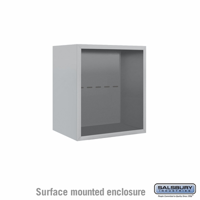 Salsbury Surface Mounted Enclosure for 3705 Single Column Unit - Aluminum