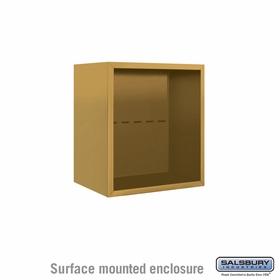 Salsbury 3805S-GLD Salsbury Surface Mounted Enclosure for 3705 Single Column Unit Gold