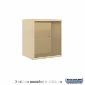 Salsbury Surface Mounted Enclosure for 3705 Single Column Unit - Sandstone