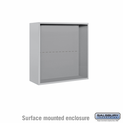 Salsbury Surface Mounted Enclosure for 3707 Double Column Unit - Aluminum