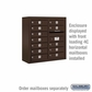 Salsbury Surface Mounted Enclosure for 3707 Double Column Unit - Bronze