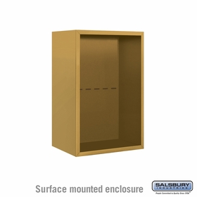 Salsbury 3807S-GLD Salsbury Surface Mounted Enclosure for 3707 Single Column Unit Gold