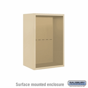 Salsbury Surface Mounted Enclosure for 3707 Single Column Unit - Sandstone