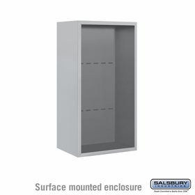 Salsbury Surface Mounted Enclosure for 3709 Single Column Unit - Aluminum