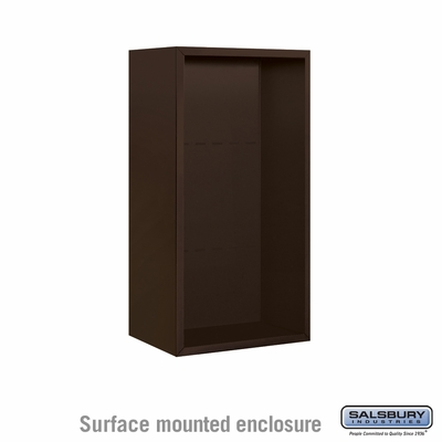 Salsbury Surface Mounted Enclosure for 3709 Single Column Unit - Bronze