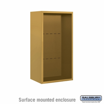 Salsbury 3809S-GLD Salsbury Surface Mounted Enclosure for 3709 Single Column Unit Gold